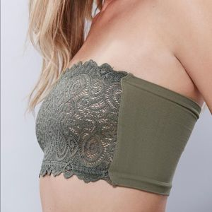 Free People Olive Green Bandeau Bra NWT